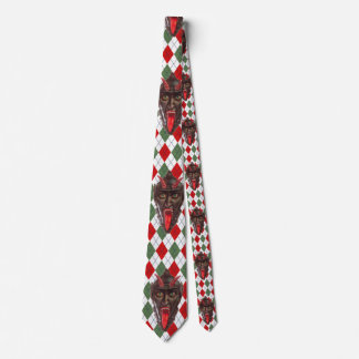 plaid christmas krampus tie