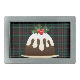 plaid christmas puddings belt buckles