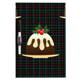 plaid christmas puddings dry erase board