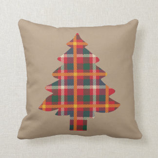 Plaid Christmas Tree Cushion
