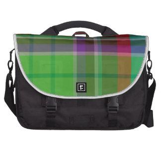 Plaid Colorful Laptop Messenger Bag