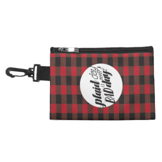 Plaid Day is Never a Bad Day Accessory Bag