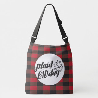 Plaid Day is Never a Bad Day Crossbody Bag