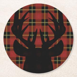 Plaid Deer Head Coaster
