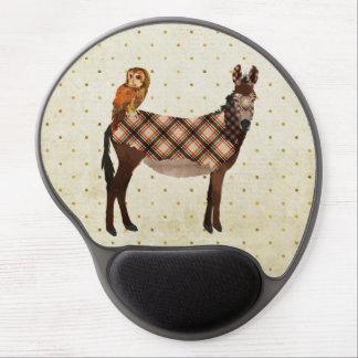 Plaid Donkey & Owl Mousepad