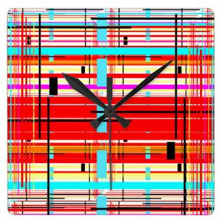 Plaid Etc. Square Wall Clock