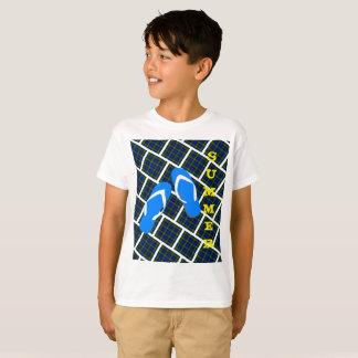Plaid Flip Flop Summer T-Shirt