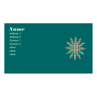 plaid flower pack of standard business cards