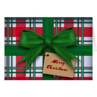 Plaid Gift Christmas Card