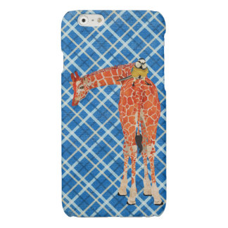 Plaid Giraffe & Little Bird Glossy iPhone 6 Case