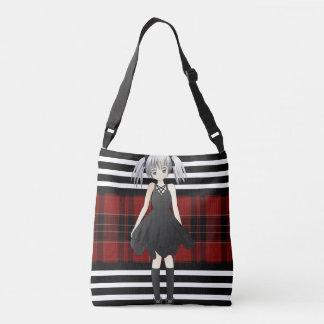 Plaid, Goth & Girly Crossbody Bag