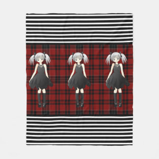 Plaid, Goth & Girly Fleece Blanket