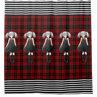 Plaid, Goth & Girly Shower Curtain