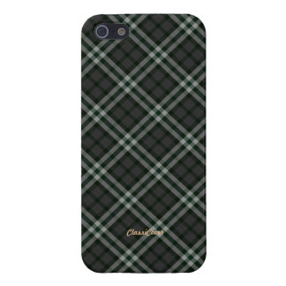Plaid Gray Green Pattern Savvy iPhone 5 Cover