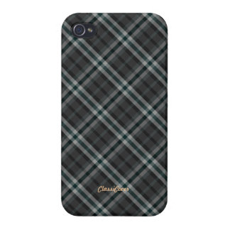 Plaid Gray Green Pattern Savvy iPhone 4/4S Cover