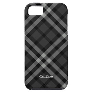 Plaid Gray Pattern Case Mate Case For The iPhone 5
