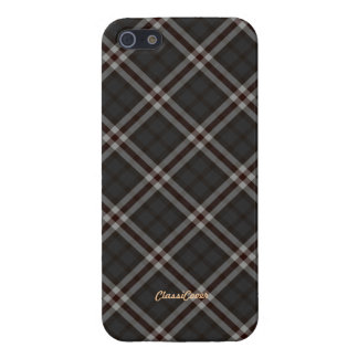 Plaid Gray Red White Pattern Savvy iPhone 5 Covers
