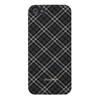 Plaid Gray White Pattern Savvy Case For iPhone 5