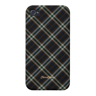 Plaid Green Brown Blue Pattern Savvy iPhone 4 Cover