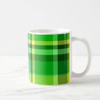 Plaid Green Yellow Mug