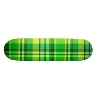 Plaid Green Yellow Custom Skate Board
