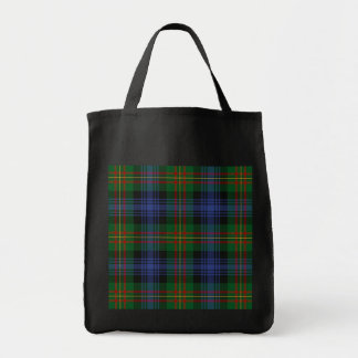 Plaid grocery tote, black grocery tote bag