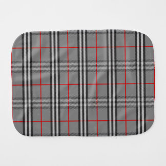 Plaid Hatter Burp Cloth