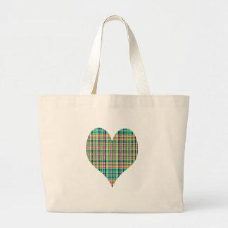 plaid heart bags