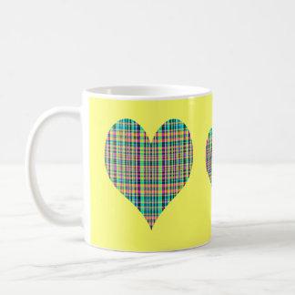 Plaid Hearts Coffee Mugs