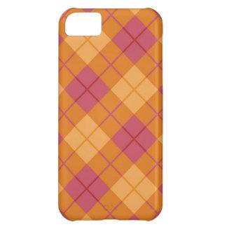 Plaid in Pink-Orange iPhone 5C Case