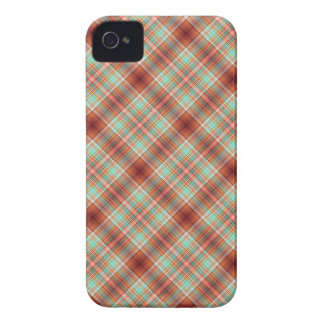 Plaid iPhone Barely There Cover Rust Teal