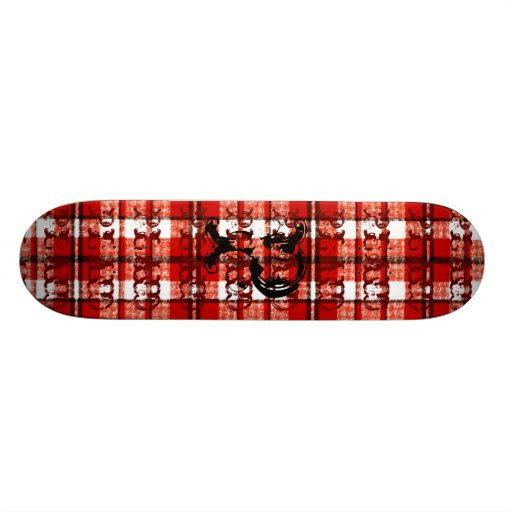 Plaid Is King RED Skate Board Deck