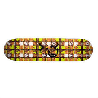 Plaid is King Yellow Skate Deck