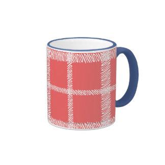 Plaid LtPink Mugs