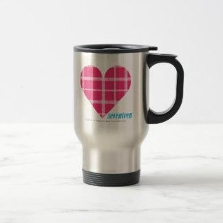 Plaid Magenta 2 Travel Mug