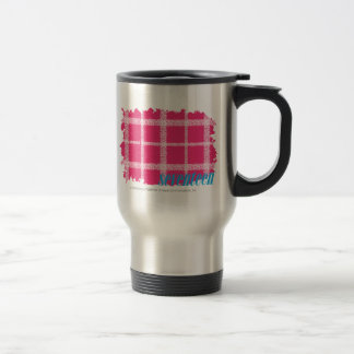 Plaid Magenta 4 Travel Mug