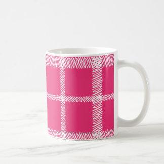 Plaid Magenta Coffee Mug