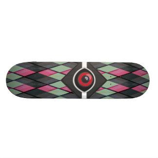 Plaid Monster Custom Skate Board
