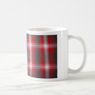 Plaid Basic White Mug