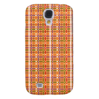 Plaid-On-Beeswax-Orange-Yellow-Background Pattern Galaxy S4 Case