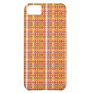 Plaid-On-Beeswax-Orange-Yellow-Background Pattern iPhone 5C Case