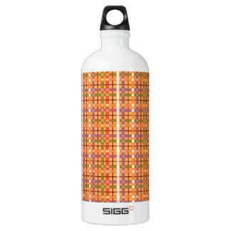 Plaid-On-Beeswax-Orange-Yellow-Background Pattern SIGG Traveller 1.0L Water Bottle