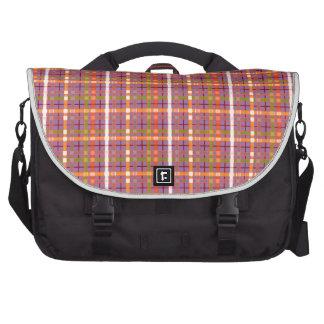 Plaid-On-Bellflower-Violet-Background Pattern Laptop Bag