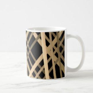PLAID ON BLACK COFFEE MUG