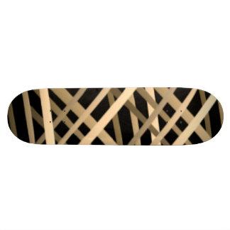 PLAID ON BLACK SKATE DECK