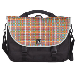 Plaid-On-Blue-Curacao-Background Pattern Bags For Laptop