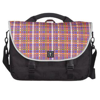 Plaid-On-Blue-Violet-Orchid-Background-Pattern Laptop Commuter Bag
