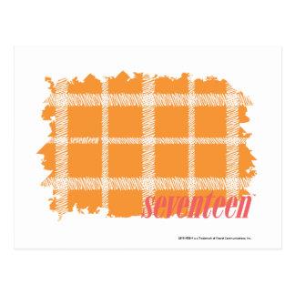Plaid Orange 3 Postcard