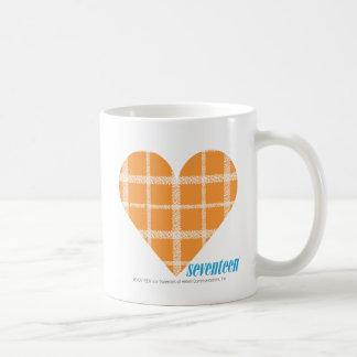 Plaid Orange 4 Basic White Mug