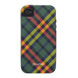 Plaid Orange Green Case Mate Case For The iPhone 4